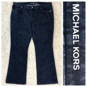 Michael Kors dark wash stretch curvy bootcut